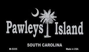 Pawleys Island Black Wholesale Novelty Metal Magnet M-5335