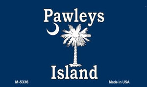 Pawleys Island Blue Wholesale Novelty Metal Magnet M-5336
