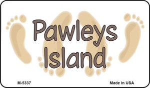 Pawleys Island Footprints Wholesale Novelty Metal Magnet M-5337