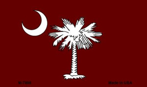 Burgandy South Carolina Flag Wholesale Novelty Metal Magnet M-7898