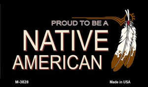 Native American Wholesale Novelty Metal Magnet M-3828