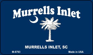 Murrells Inlet Blue Flag Wholesale Novelty Metal Magnet M-8793