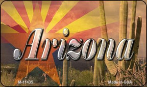 AZ Flag Arizona Cactus Wholesale Novelty Metal Magnet M-11435