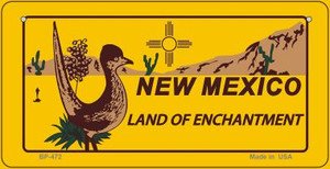 Roadrunner Yellow New Mexico Wholesale Novelty Metal Bicycle Plate BP-472