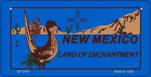 Roadrunner Blue New Mexico Wholesale Novelty Metal Bicycle Plate BP-2476