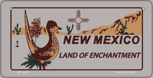 Roadrunner Gray New Mexico Wholesale Novelty Metal Bicycle Plate BP-2477