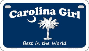 Carolina Girl Blue Flag Wholesale Novelty Metal Motorcycle Plate MP-179