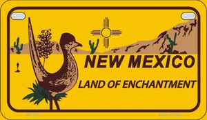 Roadrunner Yellow New Mexico Wholesale Novelty Metal Motorcycle Plate MP-472