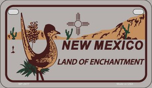 Roadrunner Gray New Mexico Wholesale Novelty Metal Motorcycle Plate MP-2477