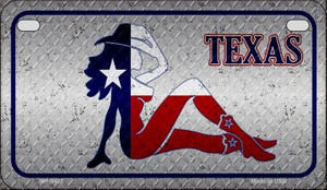 Texas Girl Diamond Wholesale Novelty Metal Motorcycle Plate MP-9432
