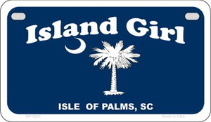 Island Girl Flag Wholesale Novelty Metal Motorcycle Plate MP-5257