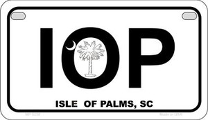 IOP White South Carolina Wholesale Novelty Metal Motorcycle Plate MP-5258
