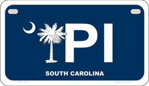 PI Blue South Carolina Wholesale Novelty Metal Motorcycle Plate MP-5332