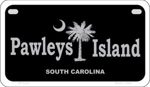 Pawleys Island Black Wholesale Novelty Metal Motorcycle Plate MP-5335