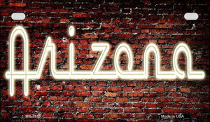 Arizona Neon Sign Wholesale Novelty Metal Motorcycle Plate MP-7855