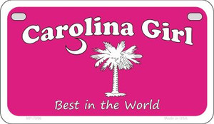 Carolina Girl Pink Wholesale Novelty Metal Motorcycle Plate MP-7896