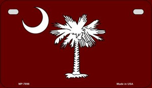 Burgandy South Carolina Flag Wholesale Novelty Metal Motorcycle Plate MP-7898