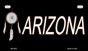 Dreamweaver Arizona Wholesale Novelty Metal Motorcycle Plate MP-3827