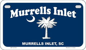 Murrells Inlet Blue Flag Wholesale Novelty Metal Motorcycle Plate MP-8793