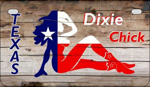 Texas Dixie Chick Wholesale Novelty Metal Motorcycle Plate MP-9430