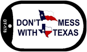 Dont Mess With Texas Wholesale Novelty Metal Dog Tag Necklace DT-178