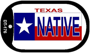Native Texas Wholesale Novelty Metal Dog Tag Necklace DT-176