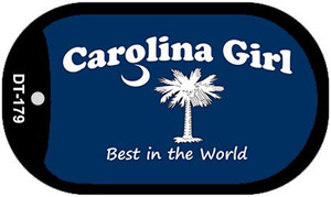 Carolina Girl Blue Flag Wholesale Novelty Metal Dog Tag Necklace DT-179
