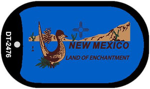 Roadrunner Blue New Mexico Wholesale Novelty Metal Dog Tag Necklace DT-2476