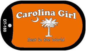 Carolina Girl Orange Wholesale Novelty Metal Dog Tag Necklace DT-180