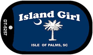 Island Girl Flag Wholesale Novelty Metal Dog Tag Necklace DT-5257