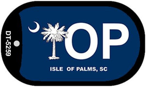 IOP Blue South Carolina Wholesale Novelty Metal Dog Tag Necklace DT-5259