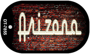 Arizona Neon Sign Wholesale Novelty Metal Dog Tag Necklace DT-7855