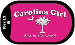 Carolina Girl Pink Wholesale Novelty Metal Dog Tag Necklace DT-7896