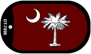 Burgandy South Carolina Flag Wholesale Novelty Metal Dog Tag Necklace DT-7898