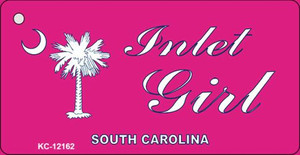 Inlet Girl SC Pink Wholesale Novelty Metal Key Chain KC-12162