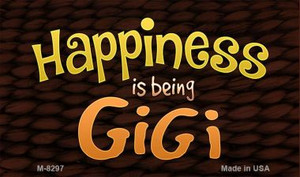 Happiness is Being Gigi Wholesale Novelty Metal Magnet M-8297