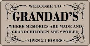 Welcome to Grandads Wholesale Novelty Metal Bicycle Plate BP-4459