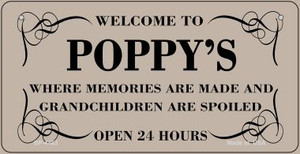 Welcome to Poppys Wholesale Novelty Metal Bicycle Plate BP-4463