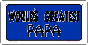 Worlds Greatest Papa Wholesale Novelty Metal Bicycle Plate BP-5352