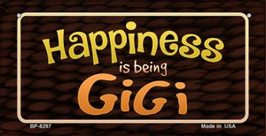 Happiness is Being Gigi Wholesale Novelty Metal Bicycle Plate BP-8297