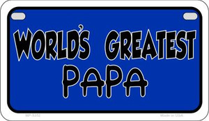 Worlds Greatest Papa Wholesale Novelty Metal Motorcycle Plate MP-5352
