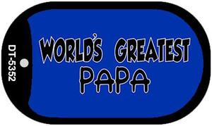 Worlds Greatest Papa Wholesale Novelty Metal Dog Tag Necklace DT-5352