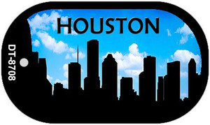 Houston Silhouette Wholesale Novelty Metal Dog Tag Necklace DT-8708