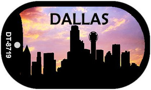 Dallas Silhouette Wholesale Novelty Metal Dog Tag Necklace DT-8719