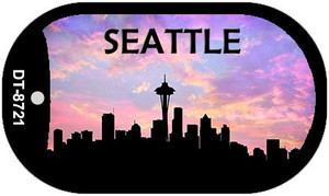 Seattle Silhouette Wholesale Novelty Metal Dog Tag Necklace DT-8721