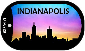 Indianapolis Silhouette Wholesale Novelty Metal Dog Tag Necklace DT-8728
