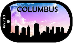 Columbus Silhouette Wholesale Novelty Metal Dog Tag Necklace DT-8729