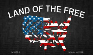 Land of the Free Wholesale Novelty Metal Magnet M-8095