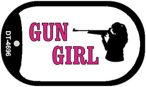 Gun Girl Wholesale Novelty Metal Dog Tag Necklace DT-4696