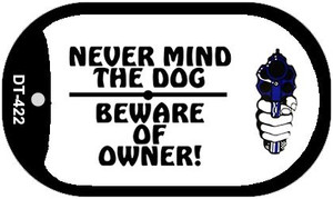 Never Mind Dog Wholesale Novelty Metal Dog Tag Necklace DT-422